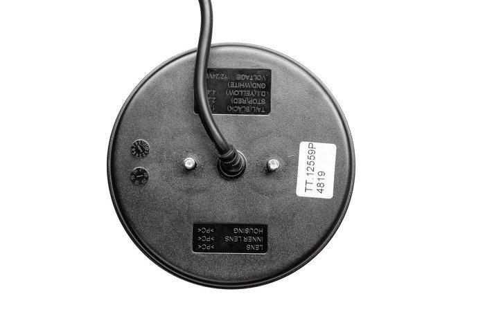 Okrągła lampa tylna zespolona LED 12-24V 4 funkcje